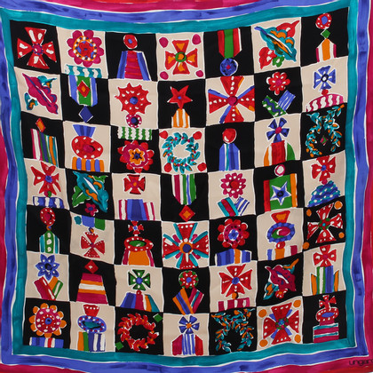 Emanuel Ungaro Silk scarf with pattern