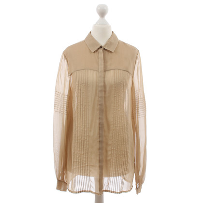 Matthew Williamson Blusa in seta beige