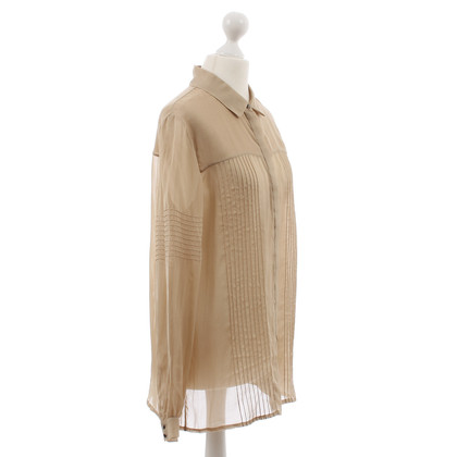 Matthew Williamson Zijde blouse beige