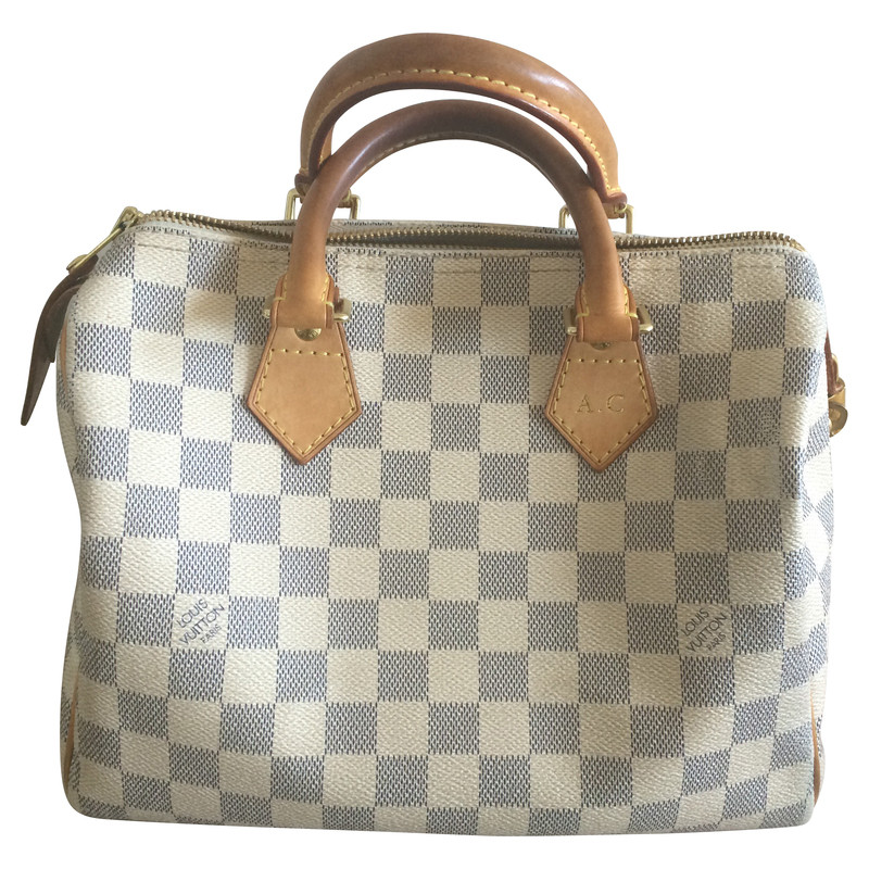 louis vuitton speedy 25 damier azur buy second hand louis vuitton speedy 25 damier azur for. Black Bedroom Furniture Sets. Home Design Ideas