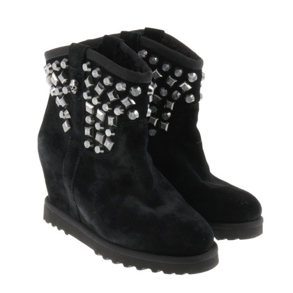 Ash Ankle boots in suede with studs