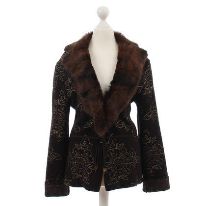 Just Cavalli Jacket with fur collar