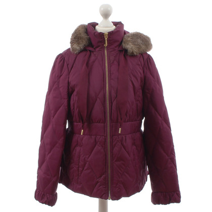 Juicy Couture With Web-fur collar down jacket