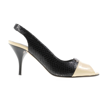 Laurèl Sling peep-dita dei piedi con pelle di serpente