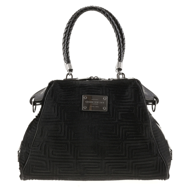 gianni versace tasche aus fell second hand gianni. Black Bedroom Furniture Sets. Home Design Ideas