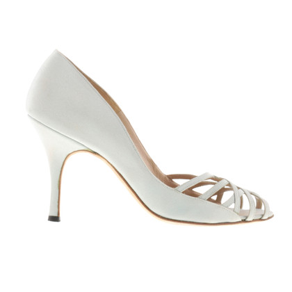 Manolo Blahnik Peep-toes in stone grey
