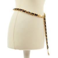 Chanel Eye black leather belt