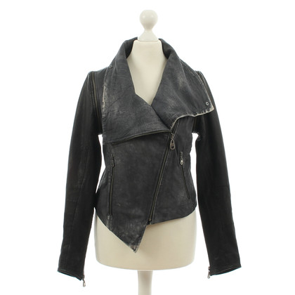 Doma DOMA - two-tone leather jacket