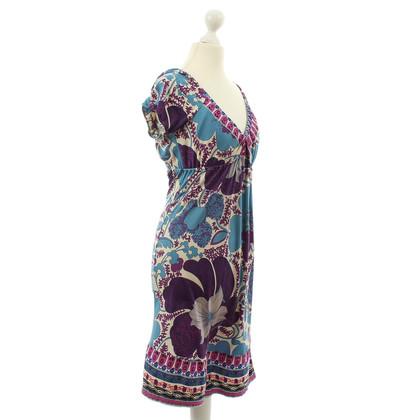 Hale Bob Bloem jurk in blauw-violet