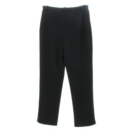 Chanel Pantaloni a vita in nero