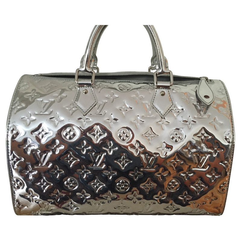 Louis vuitton speedy miroir vernis silver buy second for Louis vuitton silver alma miroir