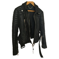 Burberry Prorsum Leather jacket with topstitching