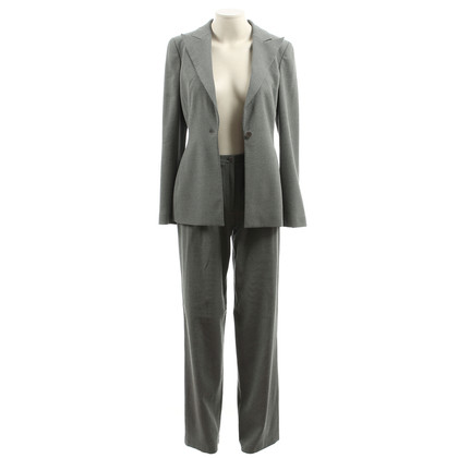 Giorgio Armani In the salt & pepper-look pants suit