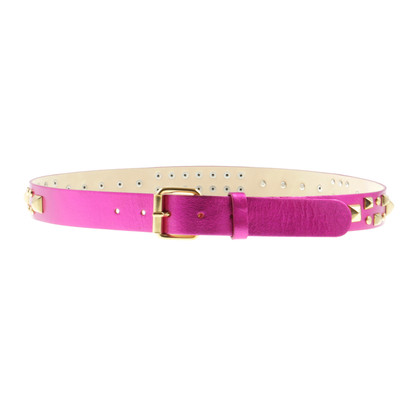 Matthew Williamson for H&M Studded belt in pink