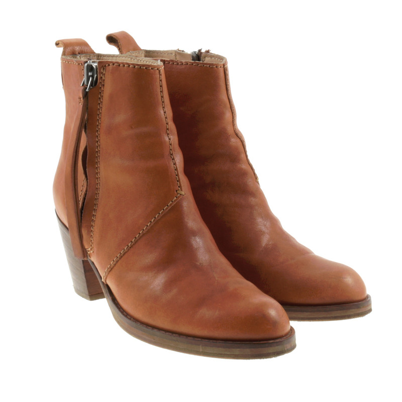 acne pistol boots in cognac buy second hand acne pistol boots in cognac for. Black Bedroom Furniture Sets. Home Design Ideas