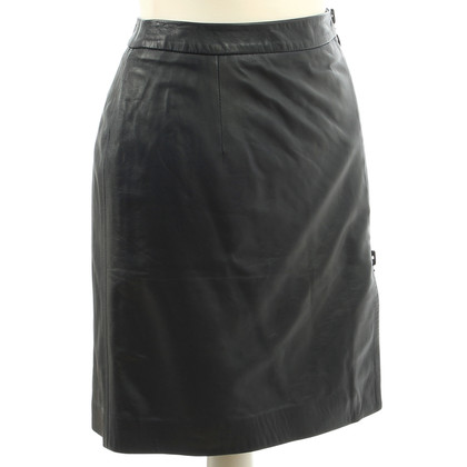 Cacharel Leather skirt in Midnight Blue