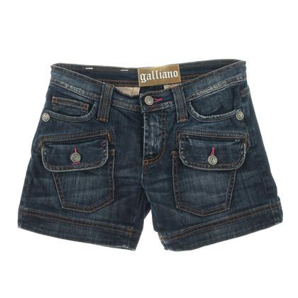 John Galliano Donker denim shorts