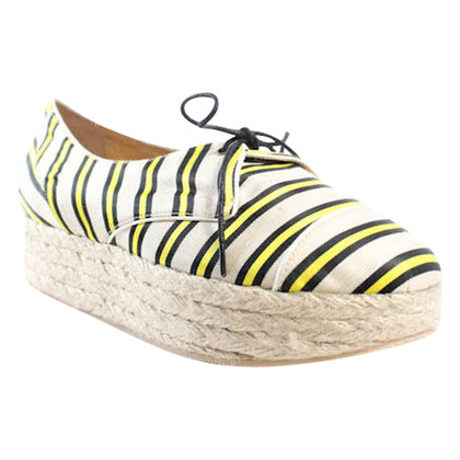 "Tabitha Simmons Espadrilles ""Florence Cricket Stripe Yellow Nat"""