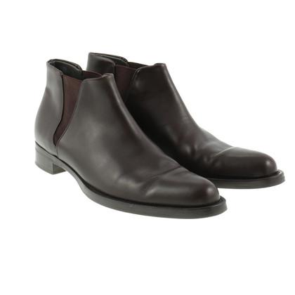 Jil Sander Brown Chelsea boots