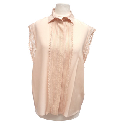 Chloé Silk blouse with lace