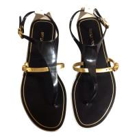 Sergio Rossi Tri-coloured sandals