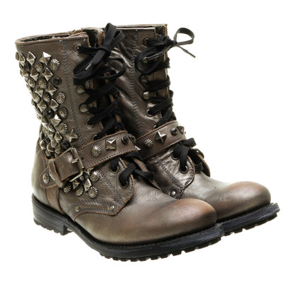 Ash Metallic boots with studs