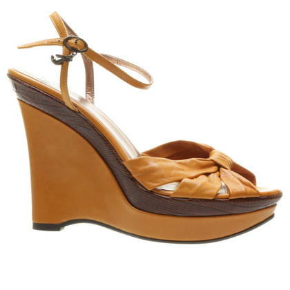Just Cavalli Gelbe Wedges