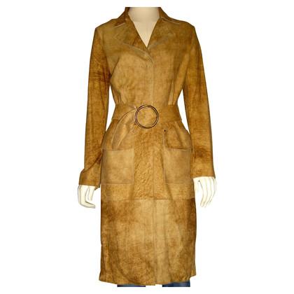 Vent Couvert cappotto in pelle scamosciata