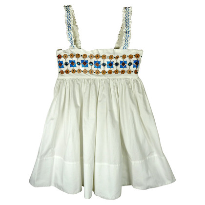 Dsquared2 White dress with jewel trim