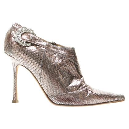 Jimmy Choo Enkellaarzen in metallic-look