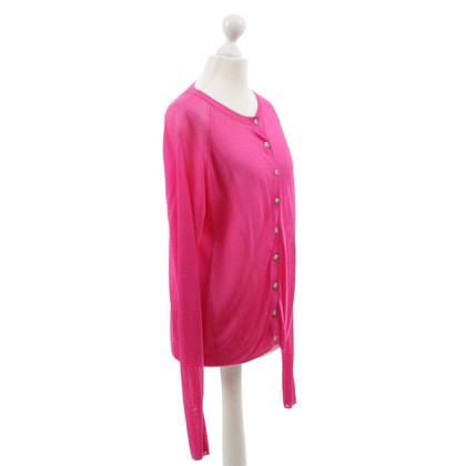 Acne Roze vest van fijne knit
