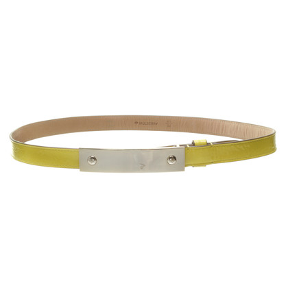 Mulberry Belt in yellow