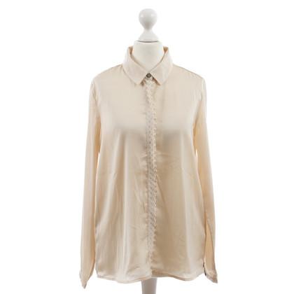 Maison Scotch Bluse mit bestickten Besatz