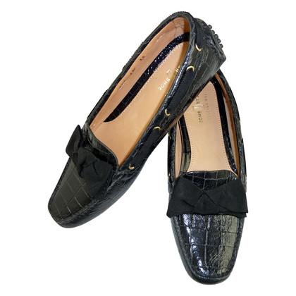 Car Shoe Schwarze Loafer mit Schleife