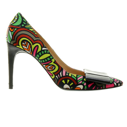 Missoni pumps met lederen lus