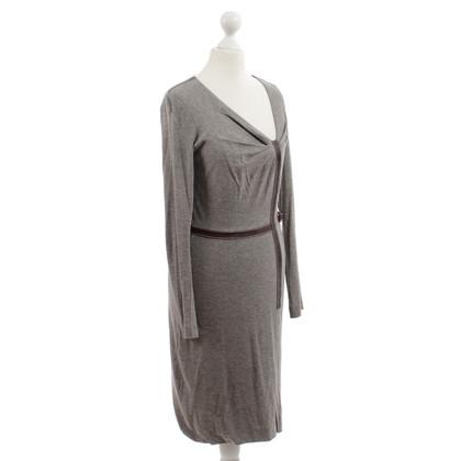 Wunderkind Kleid mit Leder-Besatz