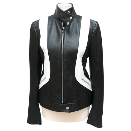 DKNY Black and white leather jacket