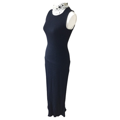 Alaïa Long dress in Midnight Blue