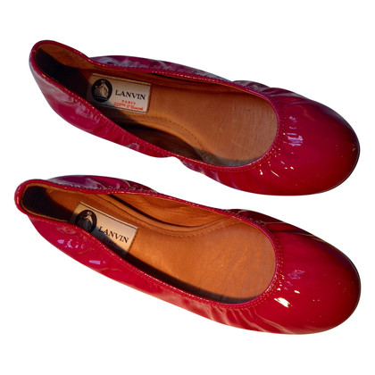 Lanvin Pink patent leather ballerina