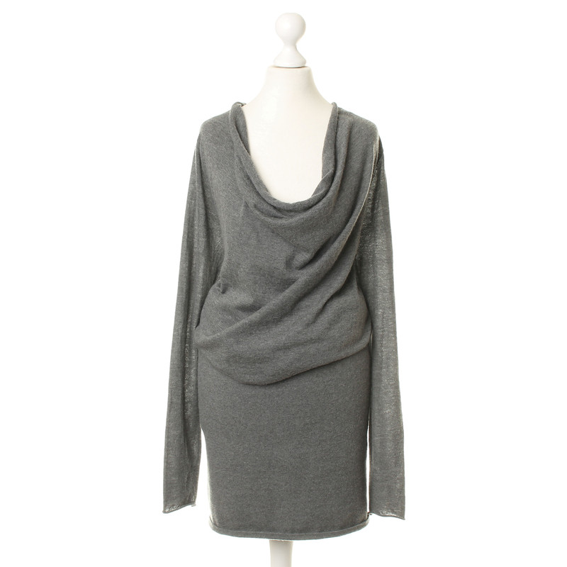 donna karan strickkleid in grau second hand donna karan. Black Bedroom Furniture Sets. Home Design Ideas