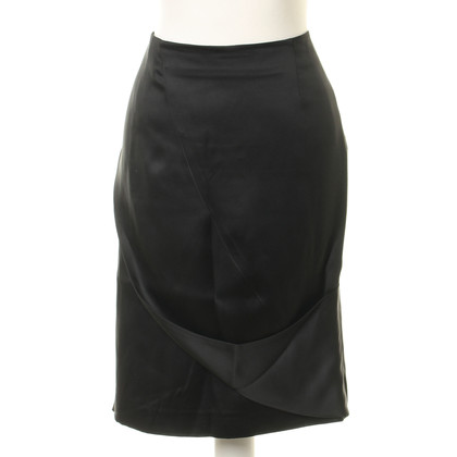 Giorgio Armani Zwarte zijde rok