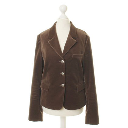 Etro Fluweel Blazer in Brown