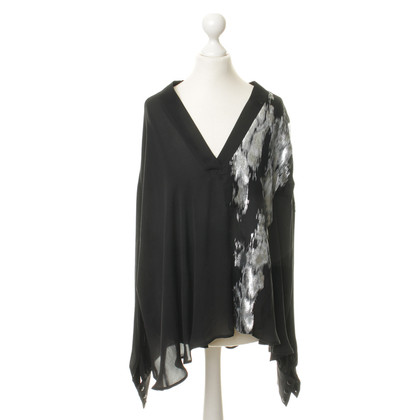 Jay Ahr Silk shirt with a metallic accent