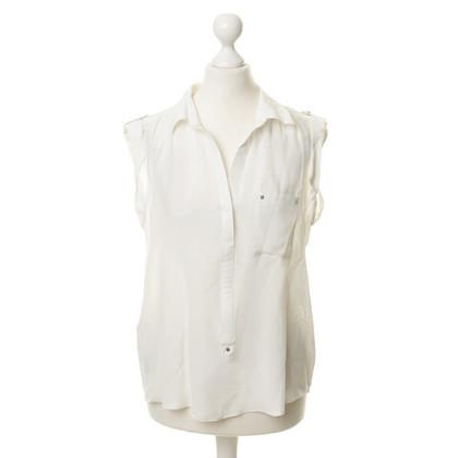 Comptoir des Cotonniers Silk blouse in white