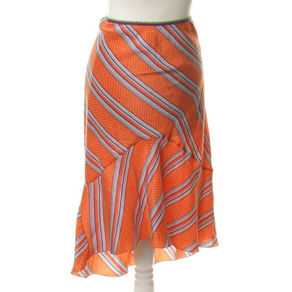 Etro Silk skirt with stripes