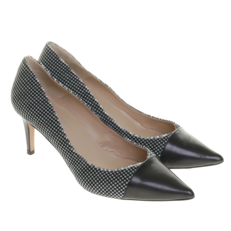 Pepita Muster pura pumps mit pepita muster second pura pumps