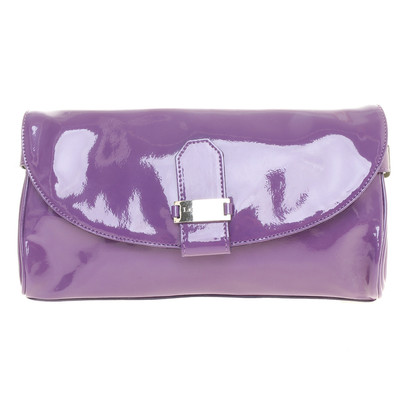 L.K. Bennett clutch patent leather