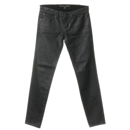 Ralph Lauren Gewachste schwarze Jeans