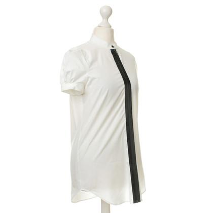 Dsquared2 Bluse mit Zipper in Leder-Optik