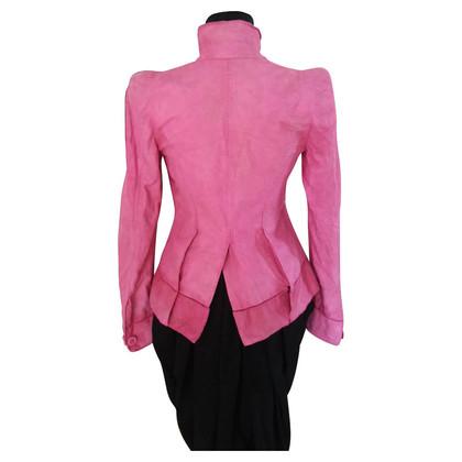 Wunderkind Leather jacket in pink